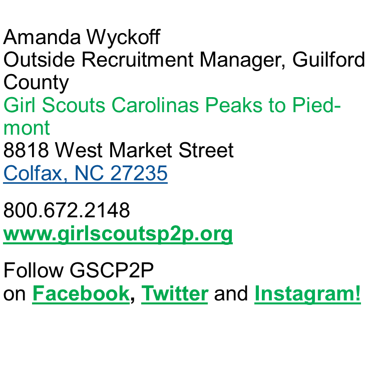 Girl Scouts Contact Info